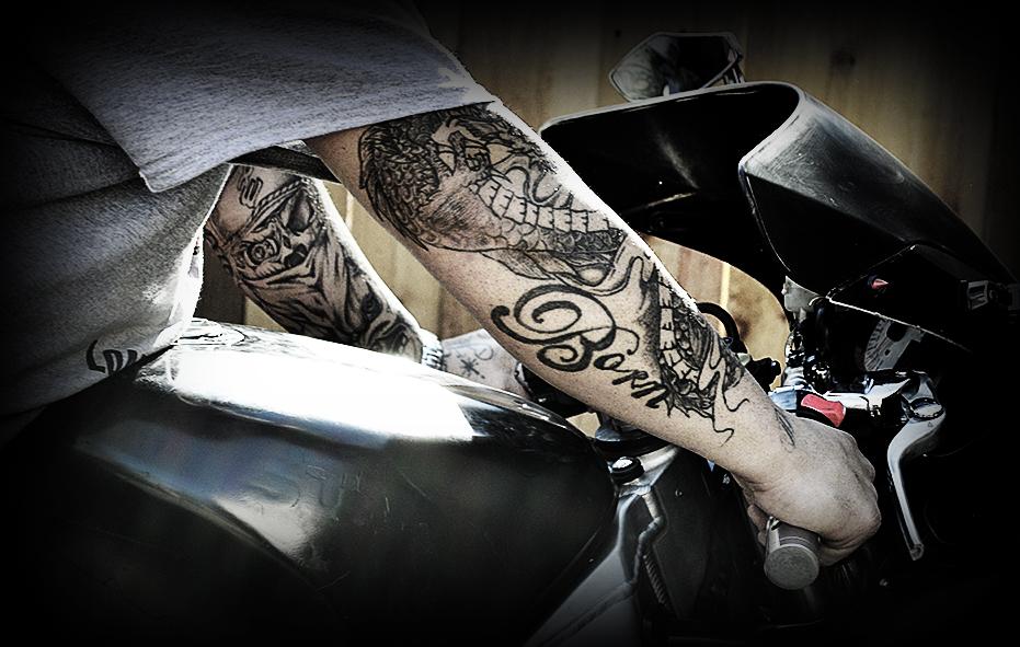 Spark tattoo motorcycle lifestyle image photo bike